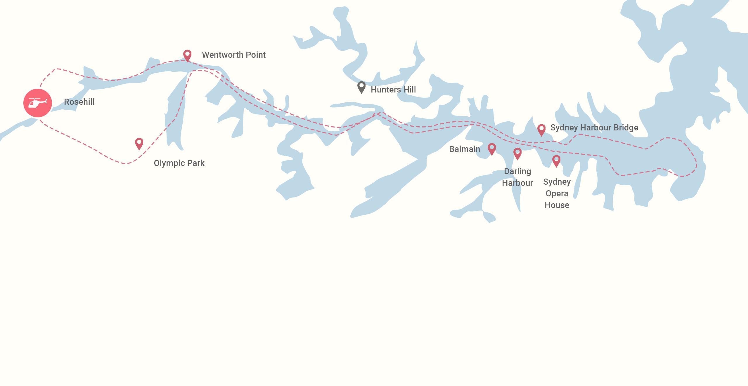 Sydney Icon Flight Map