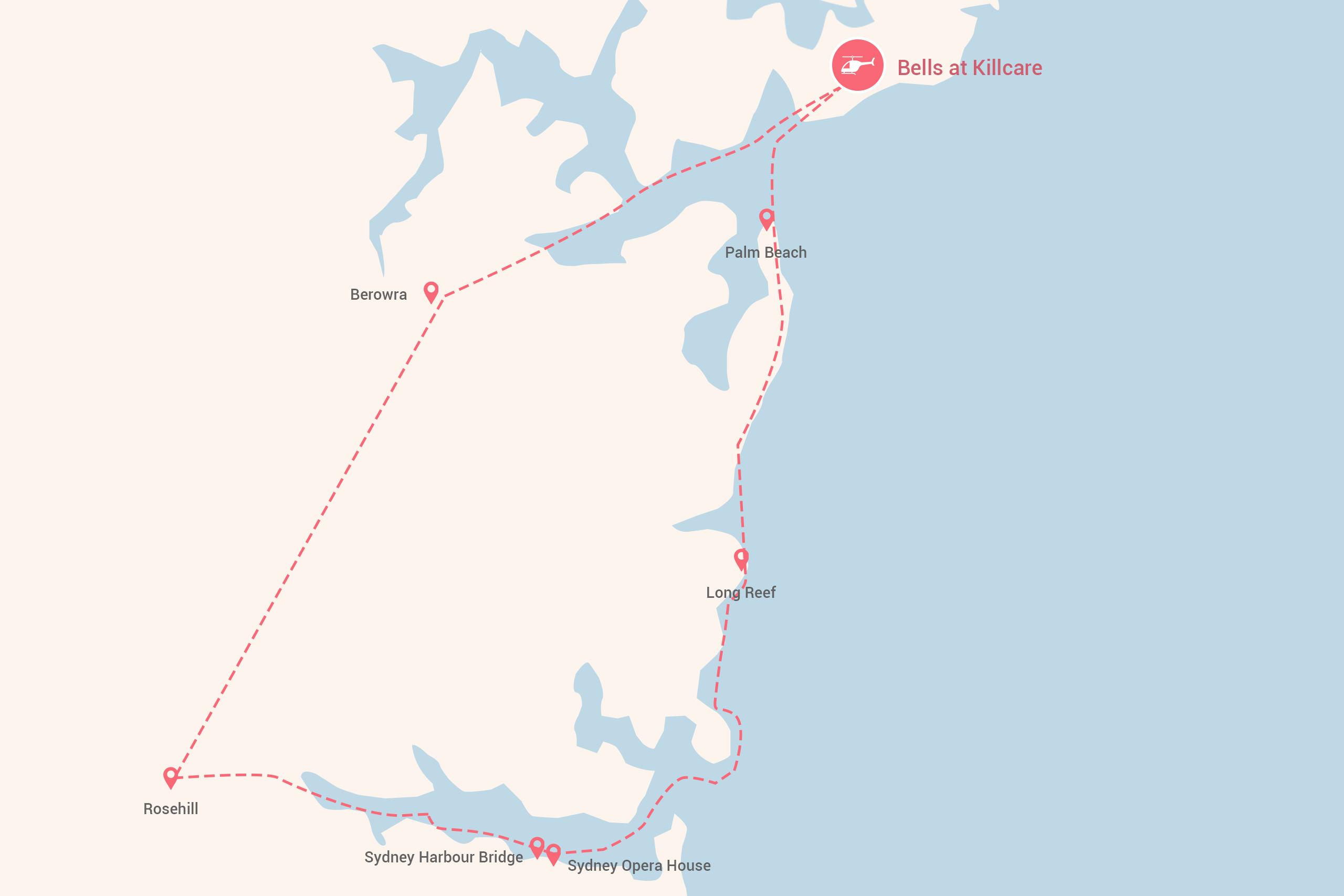 Heli Spa Indulgence Tour Map