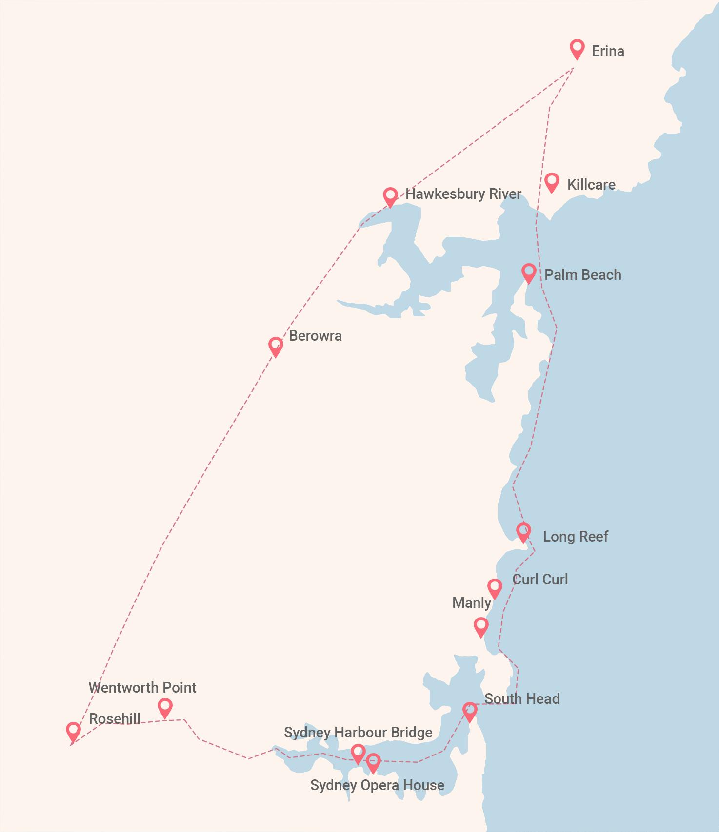 The Reef – Terrigal Beach Map